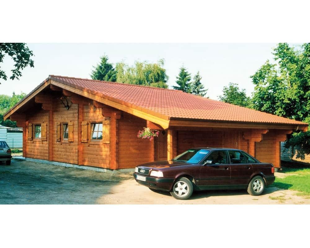 80qm Blockhaus Wiesenburg - Havel-Haus